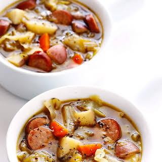 Cabbage, Sausage and Potato Soup.