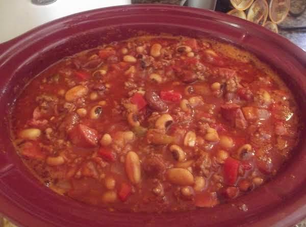 Crockpot Chili Bean Casserole