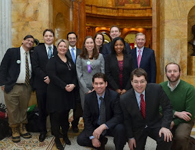 Photo: The Walk to the Hill contingent from the Boston Bar Association's New Lawyers and Solo/Small Firm Sections.