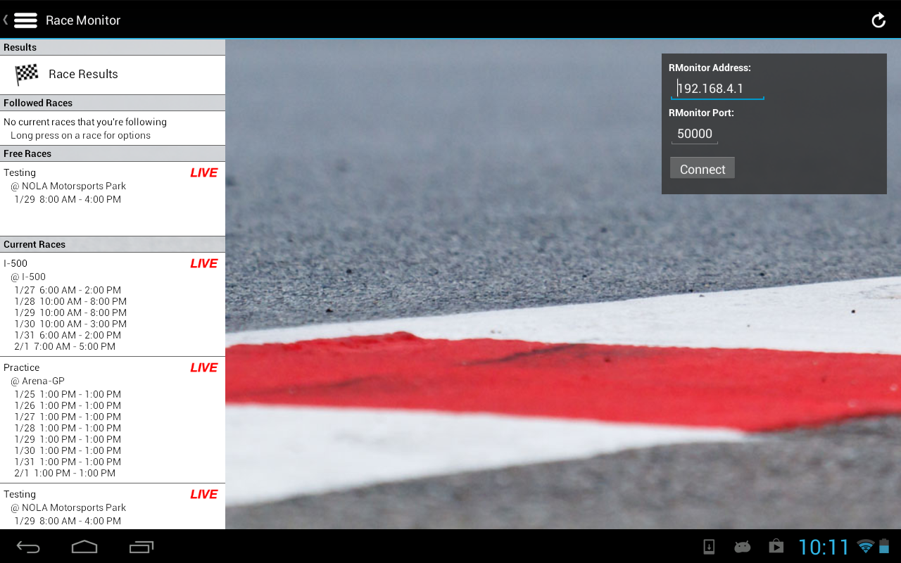 Race Monitor- screenshot