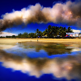 Smoke on the water #Reflection by Faried Kactoez - Landscapes Beaches