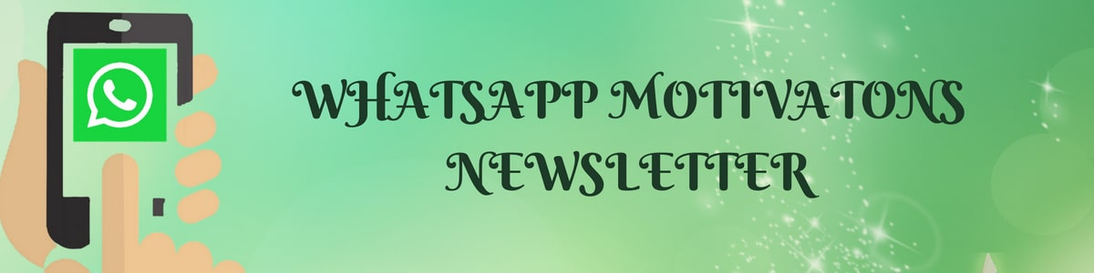 Whats App Motivations Newsletter Banner