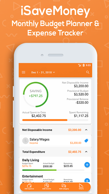 Monthly Budget Planner & Daily Expense Tracker Android App Screenshot