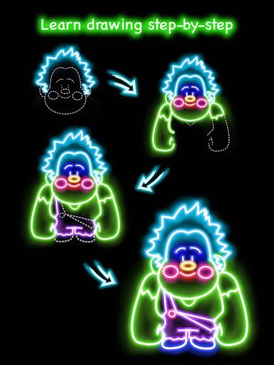 Draw Glow Cartoon - How to draw 1.0.9 screenshots 10