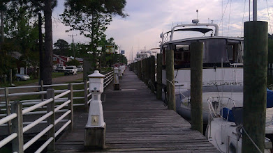 Photo: Coinjock Marina. This is a LAD (Long-Ass Dock).