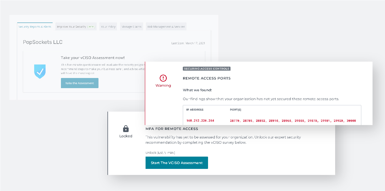 [DIAGRAM] vCISO Policyholder Dashboard