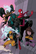 Photo: AVENGING SPIDER-MAN #16 COVER. 2012. Ink(ed by Joe Rivera) on Marvel board, 11 × 17.25″.