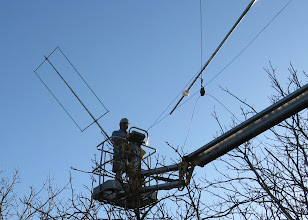 Photo: 160 m loop gets in the way but Roger(hired help) works around it successfully.