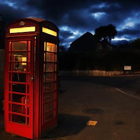 Red Phone Box by Bradley Foot - City,  Street & Park  Street Scenes ( red, street, telephone, phonebox, canon,  )