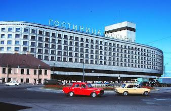 Photo: Hotelli Moskova, jonka aamiaispöydässä kahvia ei yleensä riittänyt koko pöydälle ja lisää ei saanut