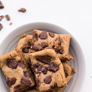 Flourless Peanut Butter Cookie Bars (Gluten-Free, Refined Sugar-Free) Recipe