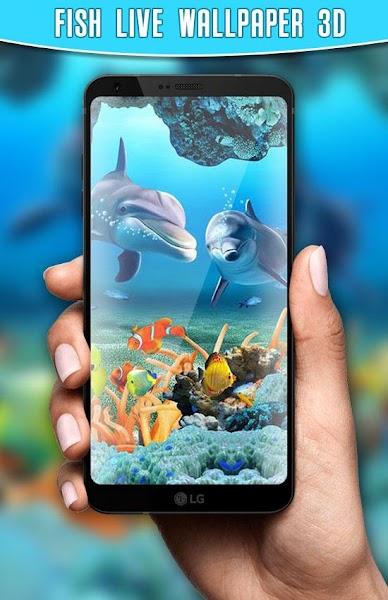 Fish Live Wallpaper 3D Screenshot Image