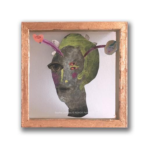 au_fond_de_tes_yeux_ombres_sophie_lormeau_peinture_art_singulier_contemporain_figuratif_artiste_femme_france_portrait_dada_surrealiste_cadavre_exquis_oeil_miniart_miniature_enluminure_collage_peinture_adagp_paris_2020_©