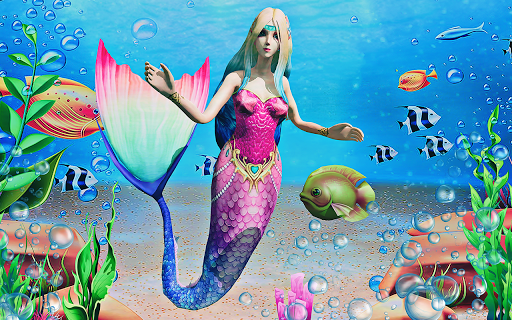 Mermaid Simulator 3D - Sea Animal Attack Games screenshots apkspray 7