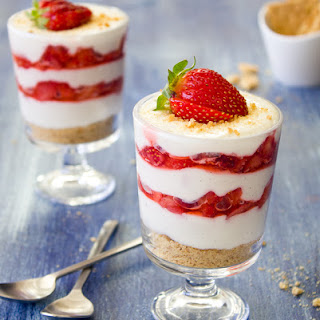 Strawberries and Cream Parfaits