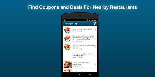 App burger king coupons