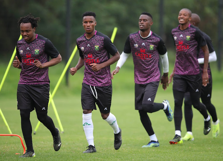 Bafana Bafana players during a training session in Johannesburg on March 23 2021.