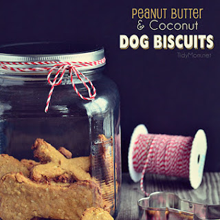 Homemade Peanut Butter Dog Biscuits.