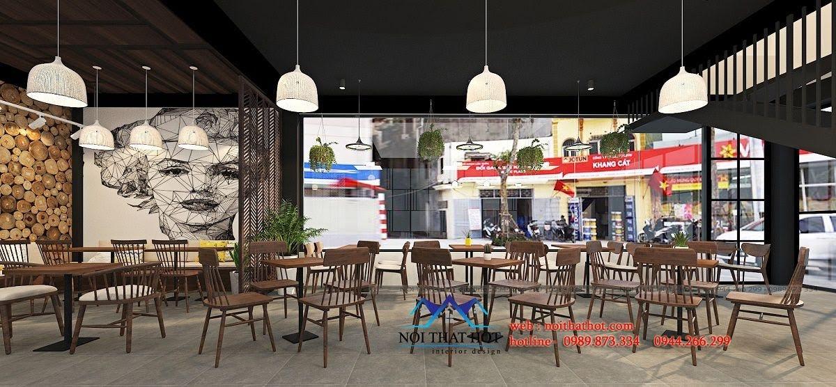 thiết kế quán trà sữa cafe và siêu thị 7