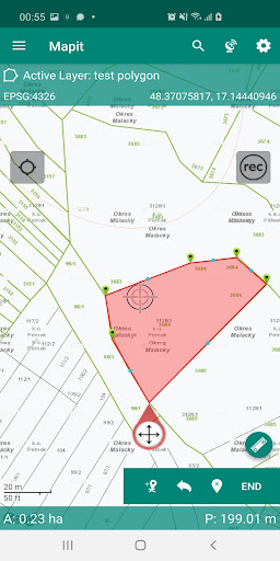 mapit spatial - gis data collector & measurements screenshot 1