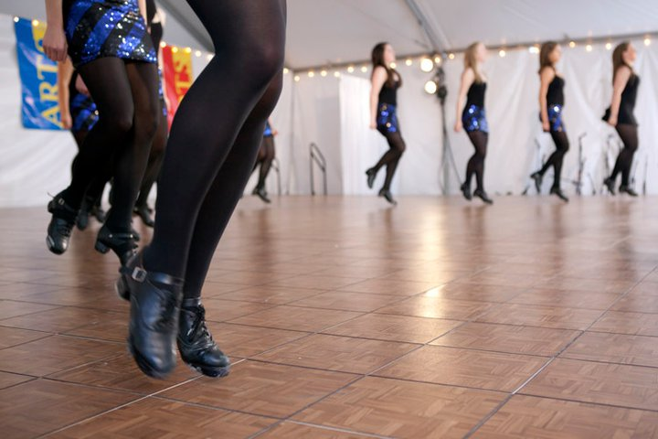 "Photo: Arts Festival 2011. Dance showcase of seven campus dance troupes that were selected in a ""Viewers' Choice"" poll as the favorites. Pictured here, the BC Irish Step group performs. (Photo by Caitlin Cunningham) To see a clip of some of the dancers, click here: http://bit.ly/izfsZe"