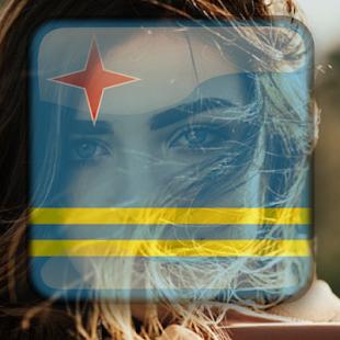 Aruba Flag On Face Maker : Photo Editor - náhled