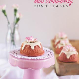 Strawberry Mini Bundt Cakes.
