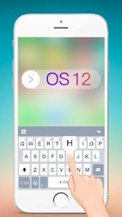 New OS12 Keyborad Theme - náhled