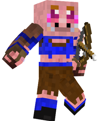 Fixed version of the piggy female warrior sadly new to this so 3rd time is a charm