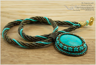 Photo: The Turquoise with Bronze and Blue - Бірюза в бронзі