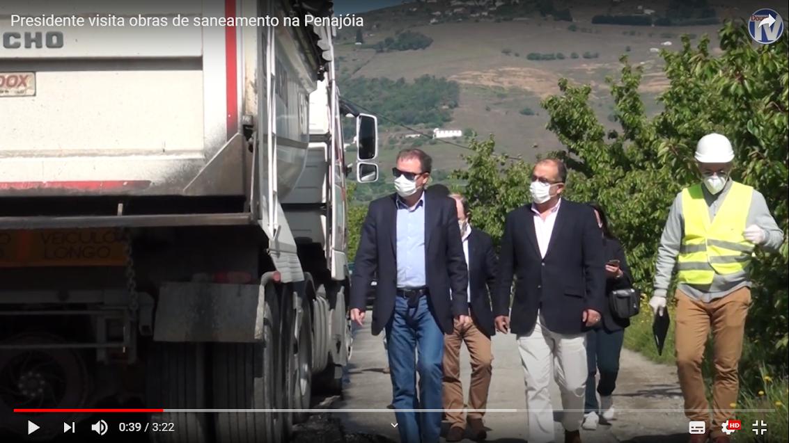 Vídeo - Presidente visita obras de saneamento na Penajóia