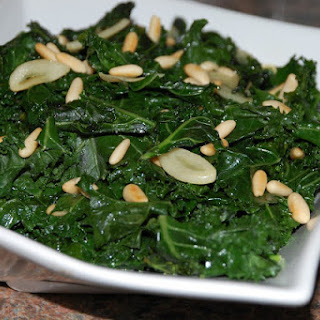 Sauteed Kale with Garlic and Pine Nuts.