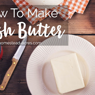 How To Make Butter.
