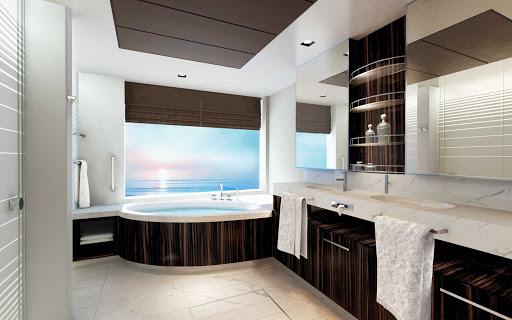 norwegian-bliss-H4-Haven-2-Bedrm-Fam-Villa-Bathrm.jpg - A two-bedroom Family Villa bathroom in the Haven area of Norwegian Bliss.