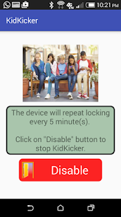 KidKicker Pro parental control Screenshot