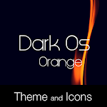 Dark Os Orange Theme Icon