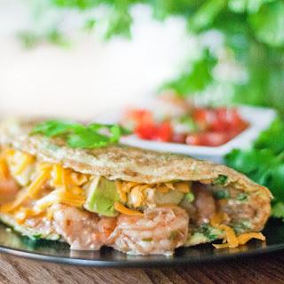 Paleo Satay Avocado Prawn Omelette