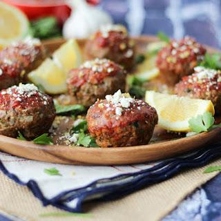 Greek Gluten Free Meatloaf Muffins | Healthy & Easy Freezer Meals