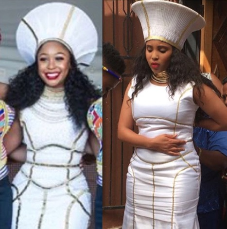 Dress drama: Asanda's design and the one that was going to be used on Isibaya.