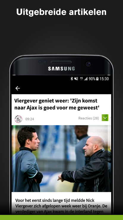 Voetbalzone: screenshot