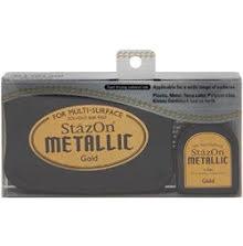 Stazon Metallic Ink Kit Gold