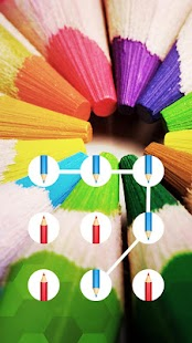 Pencil APP Lock Theme Colorful Pin Lock Screen - náhled