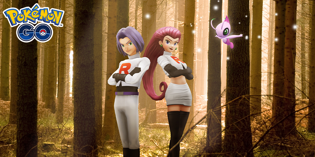 Celebrate Pokémon the Movie: Secrets of the Jungle with a collaboration event featuring Shiny Celebi in Special Research and Jessie and James's return to Pokémon GO