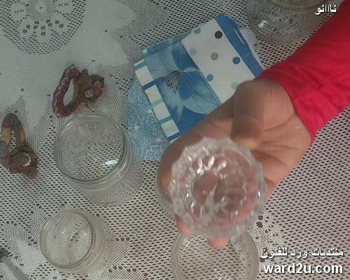 تزيين برطمانات زجاج بطريقه سهله