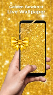 Golden bowknot Free live wallpaper - náhled
