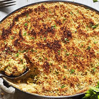 Vegan Cauliflower Rice and Broccoli Gratin Recipe