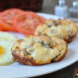 White Cheddar, Sausage Breakfast Biscuits – Low Carb, Gluten Free.