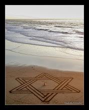 Photo: 'Star of David', Made on Ocean Beach, SF.