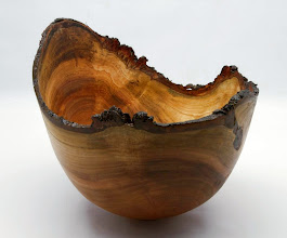 """Photo: #04 - Bob Grudberg - Natural-Edge Bowl - 8"""" x 9"""" - Cherry"""