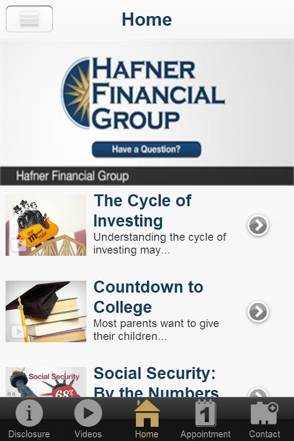 Hafner Financial Group- screenshot